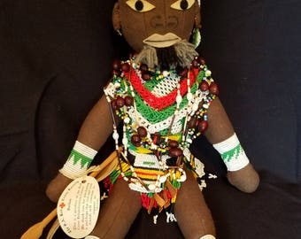 South African Beaded Doll