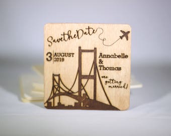 Save the Date San Francisco Golden Gate Bridge Magnets **CUSTOMIZABLE**