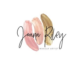 Premade Logo | Makeup Stain Logo | Makeup Artist Logo | Lipstick Logo | Feminine Logo