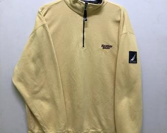 Rare!!! Nautica Ramsay Signs Sweatshirt Pullover Small Logo Embroidered Half Zipper