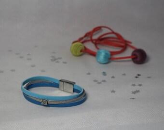 Magnetic woman blue Cuff Bracelet