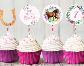 PRINTABLE - Horse Cupcake Toppers | Pony Cupcake Toppers | Cupcake Toppers | Cupcake Decor