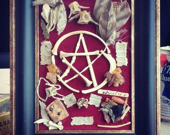 Pentacle bone art