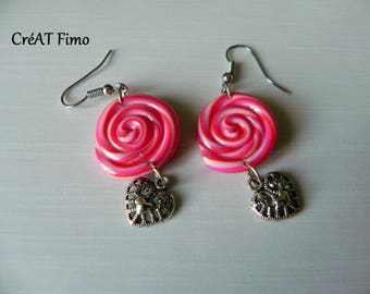 Swirl polymer clay earrings