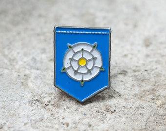 Amypanda Enamel Pin - Yorkshire, White Rose Inspired Pennant