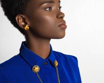 Collar pin shirt collar Honey: bronze wax jewelry