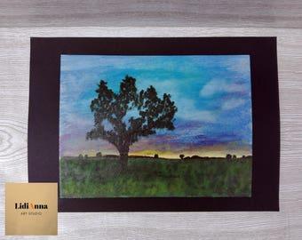 DAWN. Oil painting. Original.