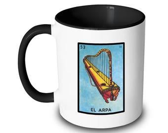 El Arpa Mug Harp Loteria Card Mexican Bingo