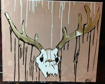 "Original Abstract Painting ""The Deer"""