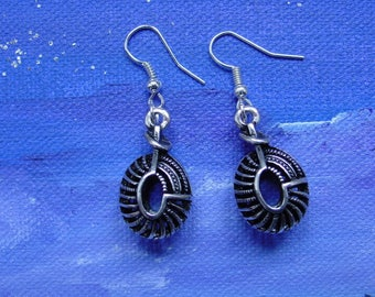 Oval charm earrings
