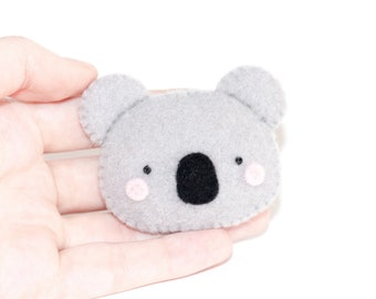 Koala Kawaii Sewn Felt Brooch / Pin
