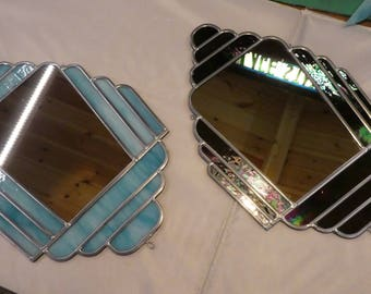 Art Deco style Stained Glass Mirrors