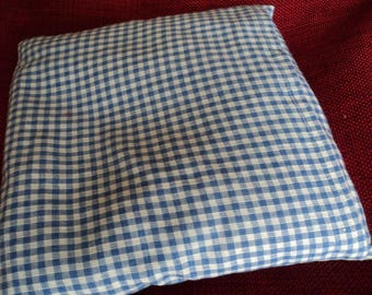 Small heating pad cotton blue/white Plaid