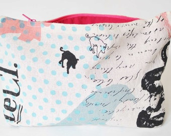 SALE - Screen printed bag (small) - Skull & Rabbit Collection