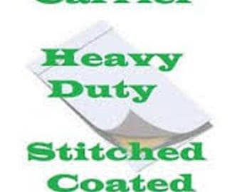 5 Pack Carrier Sleeves for Laminating Pouches Lgal Size Stitched and Coated
