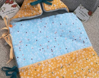 0-3 months inside Bunting fabric blanket