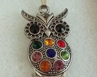 Owl Gem Necklace