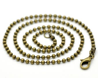 """CHAIN """"has beads"""" for creation of necklace 45 cm - diameter 2 mm"""