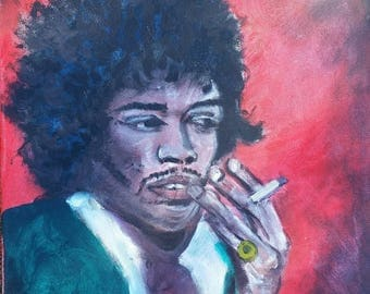 Jimmy Hendrix painting canvas original oil  painting by Pete Dimmock