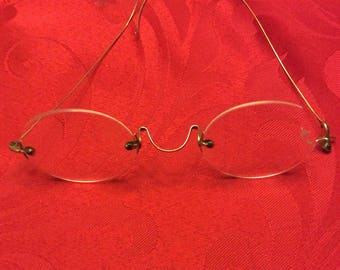 1800s 14k gold glasses