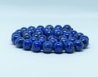 Lapis Lazuli Beads undyed - 6/8/10mm - 10 or 100 Beads