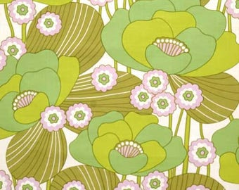 70s wallpaper of meters running #0602 - vintage wallpaper green / green