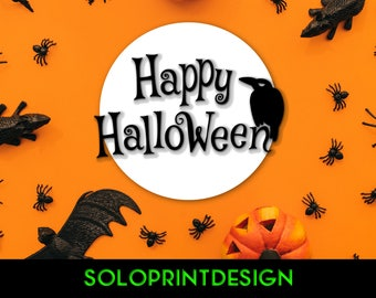 SVG Cut File Halloween Raven (Crow) | Cutting Cricut Silhouette DXF Png Eps Pdf | Card Making Party Decorations Gifting DIY Printmaking