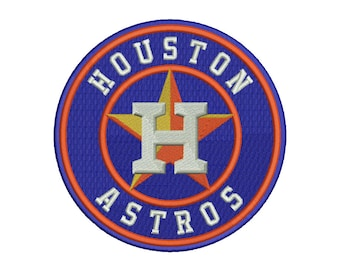 Houston Astros Embroidery Design #1 - 5 SIZES