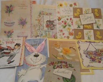 Vintage  to Wife Easter cards