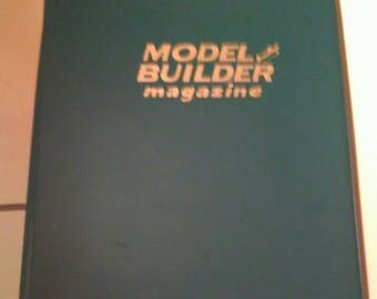 RARE 1981 Model Builder Magazine Complete Year 12 Issues In Official Binder