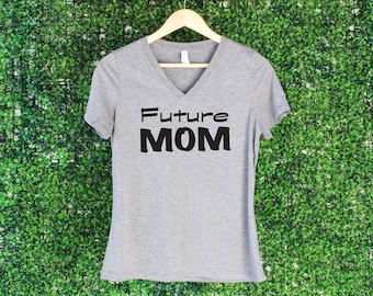 Baby Shower Gift, Future Mom Tee, Carrying Baby Tee, Baby Shower Tee, V-neck Shirt, Pregnant T-shirt, Gift for Her, Funny Shower Shirt