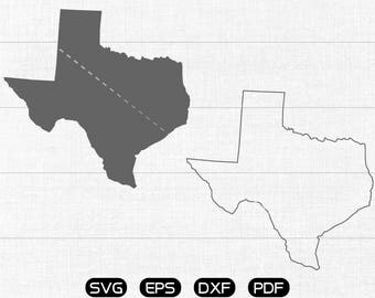 Texas SVG, State SVG Vector, TX Clipart, cricut, silhouette cut files commercial use