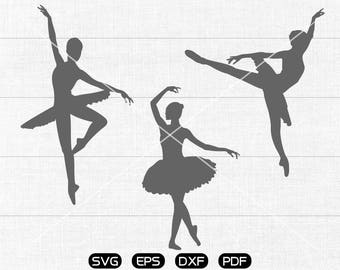 Ballerina SVG File, Ballet SVG, Dancer Clipart, cricut, cameo, silhouette cut files commercial & personal use