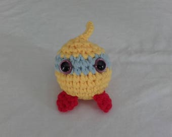 """Plush """"Ball mask"""" yellow, blue and Red"""