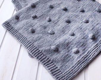 Knitted Baby blanket newborn Blanket baby boy blanket Wool baby blanket Newborn gift Baby shower gift