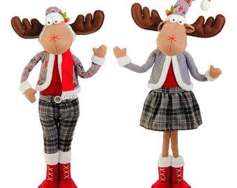 Raz Imports 32.5'' Standing Moose Couple (Set of 2) RAZ3623255