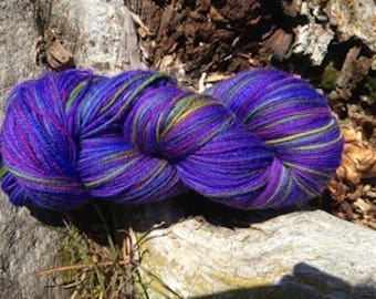 Northern Lights - Part of the Alaskan color way, hand painted yarns inspired by the Magic of Alaska