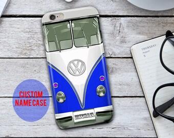 Volkswagen iPhone Case,Volkswagen iPhone 5 Case,Volkswagen Bus Phone Case,custom Name iPhone Case,Vw iPhone Case