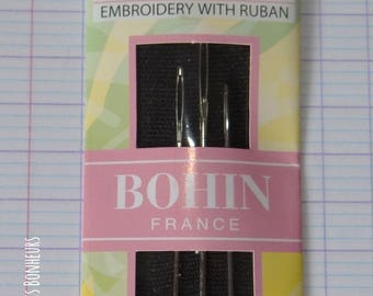 Hand - embroidery with ribbons - pins-