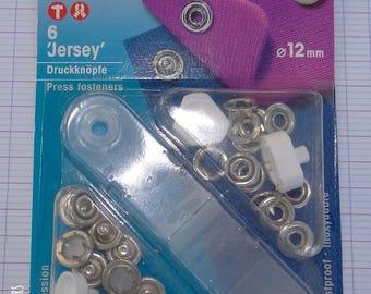 Boutons pression jersey calotte nacre, diamètre 12 mm - PRYM 390 117