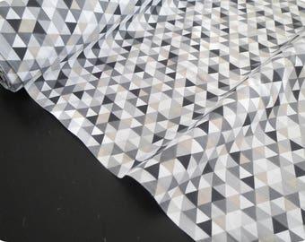 Tissu oeko tex imprimé TRIMIX noir gris