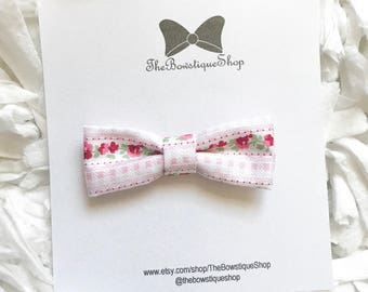 Floral Checkered Bow