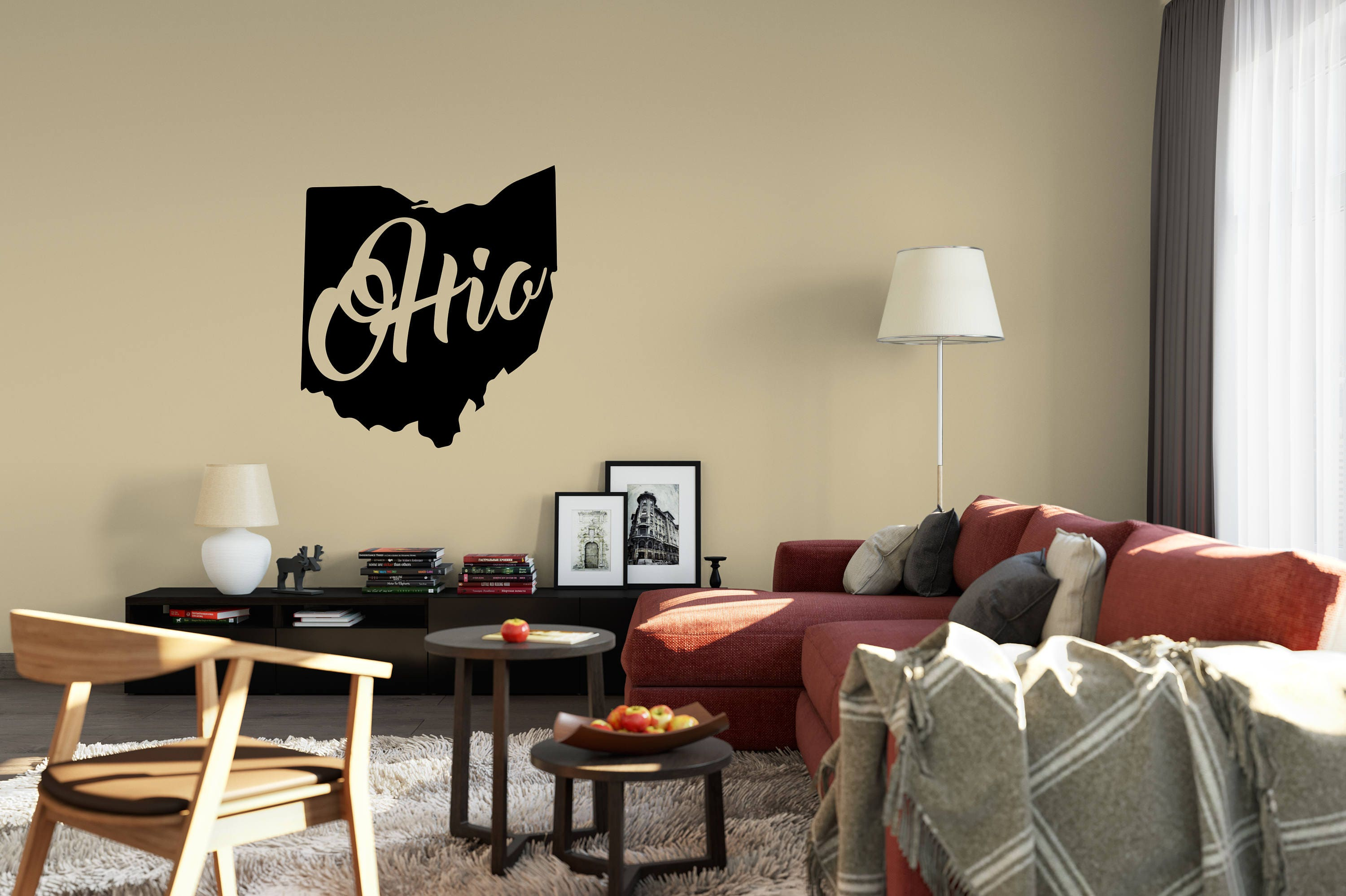 Ohio Wall Decal   Small U0026 Large Removable Vinyl Wall Decals Of Ohio State Part 85