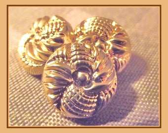 """6 buttons 14 mm 0.55 """"decor gold embossed shank button sewing notions 1.4 cm"""