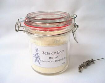 Milk bath salts and Epsom Salt - Lavender bergamot