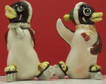 Penguin Salt & Pepper Shakers - Made in Japan