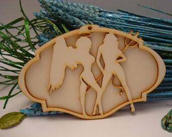 Demon 02046 embellishment wooden creations