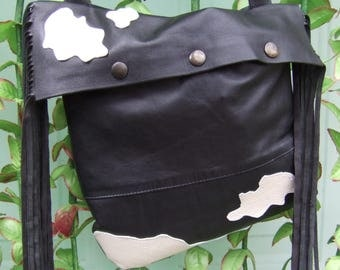 """""""COWGIRL"""" recycled leather bag"""