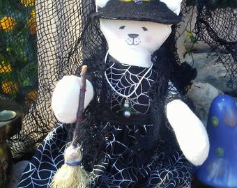 Witch cat doll