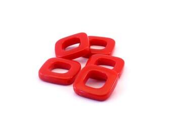 Set of 5 diamonds Red